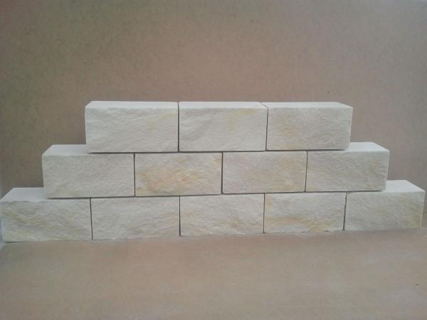 Mauerstein Schlesischer Sandstein gelb, gesägt 40x20x20 cm