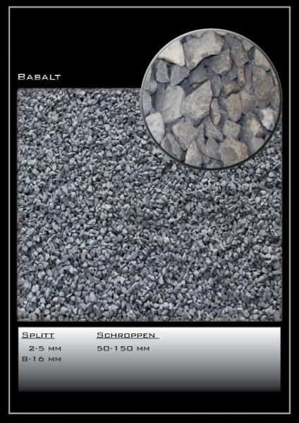 Ziersplitt Basalt schwarz 2-5 mm