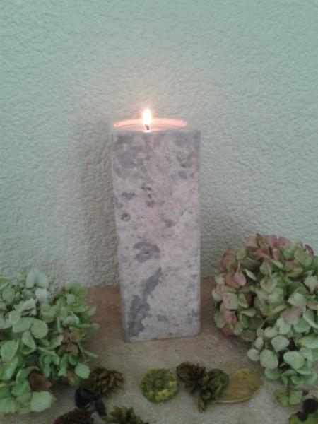 Travertin-Silber-Teelichthalter 20 cm