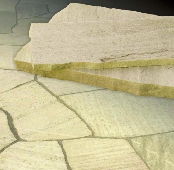 Polygonalplatten Quarzit San Tome hell, 3-5 cm stark