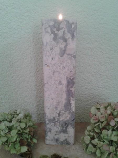 Travertin-Silber-Teelichthalter 30 cm