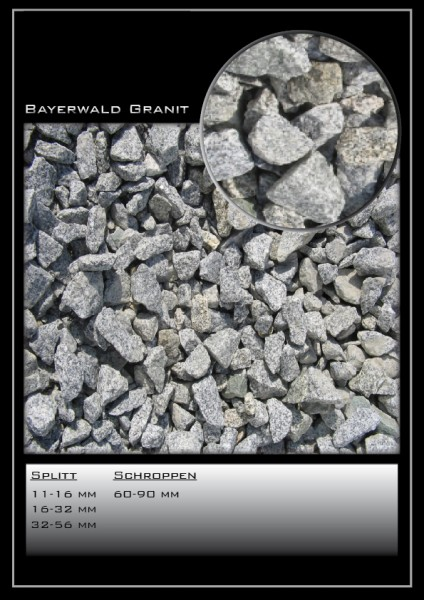 Ziersplitt Bayerwald grau 32-56 mm