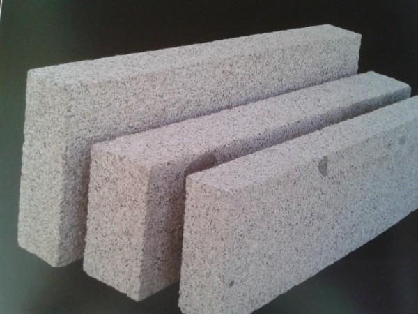 Bord. und Leistenstein Granit grau, 100x25x6 cm