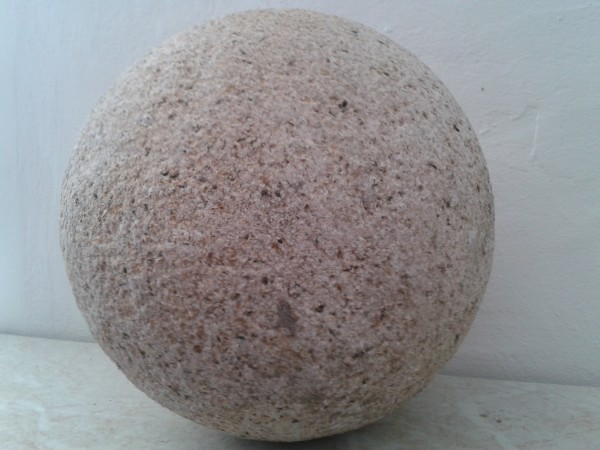 Granit Kugel gelb DN 20 cm