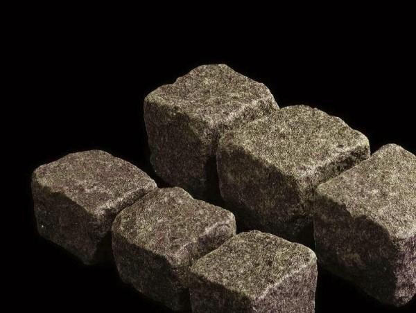 Pflastersteine Granit dunkelgrau 8x10 cm
