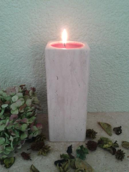 Travertin-Teelichthalter 20 cm