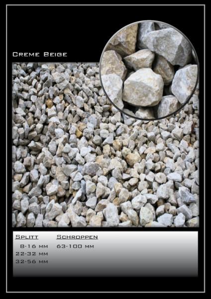 Ziersplitt Creme-beige 8-16 mm