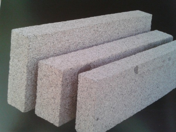 Bord. und Leistenstein Granit grau, 100x20x6 cm