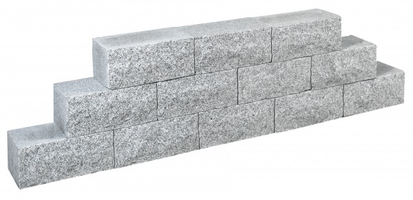 Mauerstein Granit grau, gesägt 35 x 17,5 x 15 cm