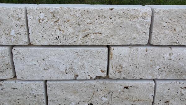 Mauersteine Travertin Classic Schichthöhe 22,5 cm