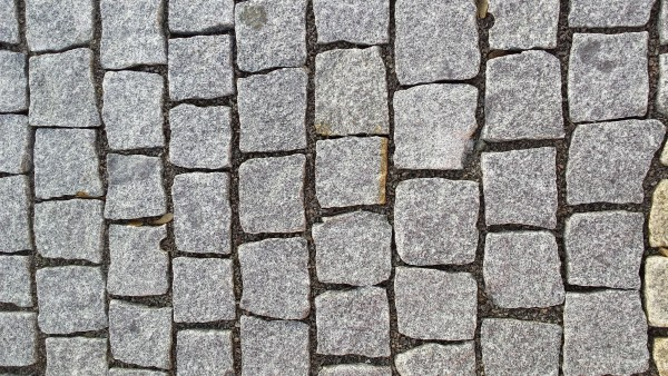 Pflastersteine Granit, grau 15x17 cm