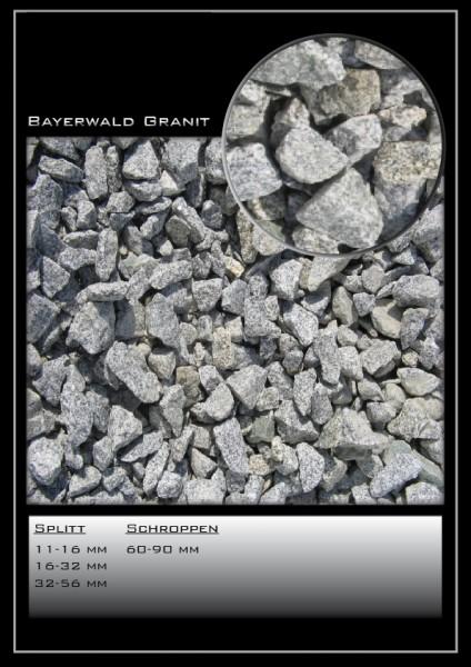 Ziersplitt Bayerwald grau 16-32 mm