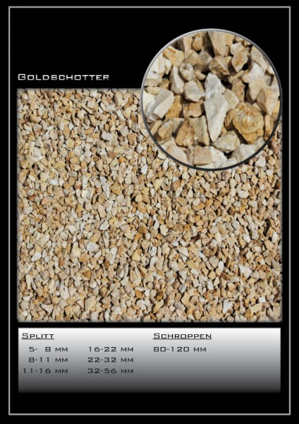 Ziersplitt Goldsplitt 32 - 56 mm