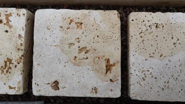 Pflastersteine Travertin 10 x 10 x 7,5 cm