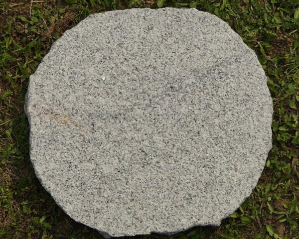 Trittstein Granit grau, rund
