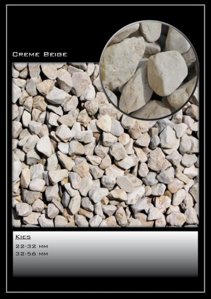 Ziersplitt Creme-beige 22-32 mm