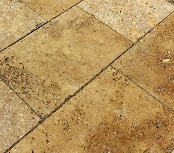 Terrassenplatten Travertin Noche 40 x 20 x 3 cm