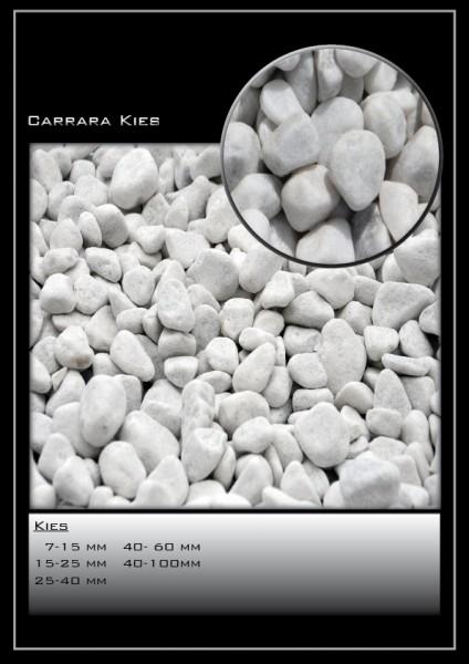Zierkies Carrara Marmor weiß 25-40 mm