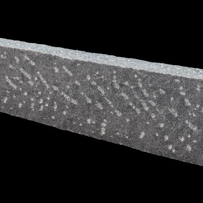Bord. und Leistenstein Granit anthrazit gesp., 100x20x8 cm