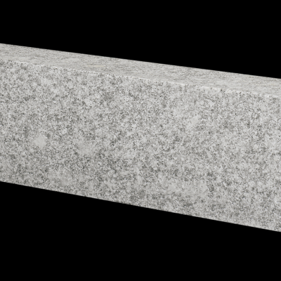 Bord. und Leistenstein Granit grau, 200x25x8 cm