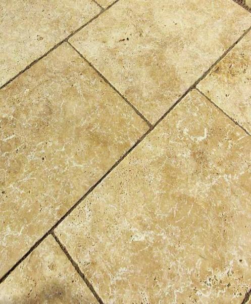Terrassenplatten Travertin Walnuss 40 x 40 x 3 cm