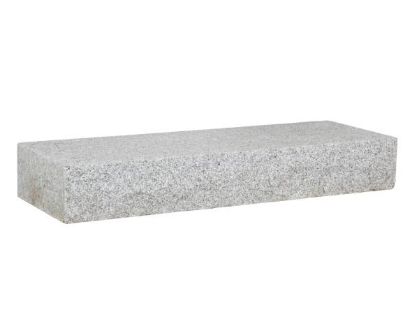 Blockstufe Granit hellgrau 125 x 35 x 15 cm