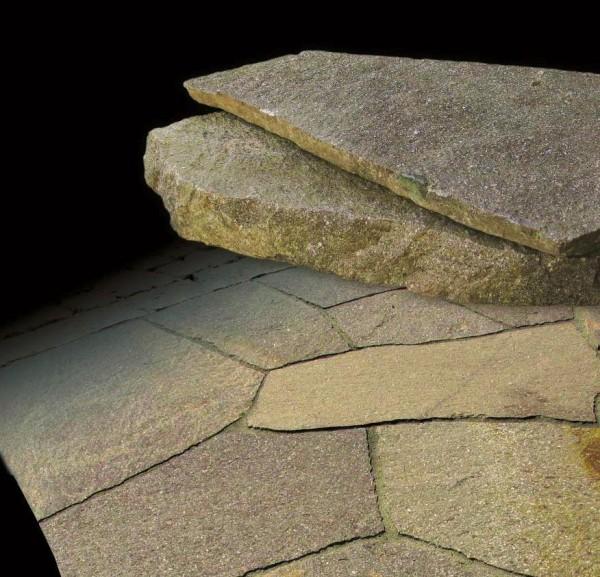 Polygonalplatten Porphyr, 3,0 - 7,0 cm stark