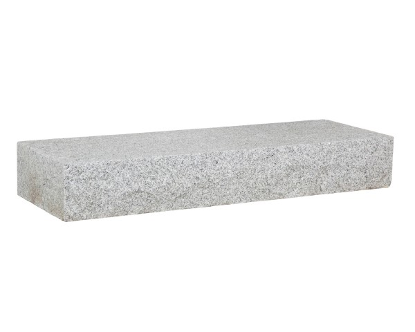 Blockstufe Granit hellgrau 75 x 35 x 15 cm