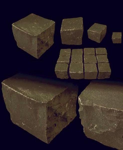 Pflastersteine Basalt 15x15x15 cm
