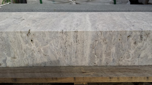 Blockstufe Travertin Silber 100 x 37 x 15 cm