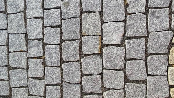 Pflastersteine Granit, grau 4x6 cm