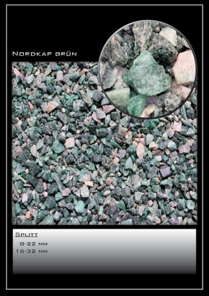 Ziersplitt Nordkap grün 8-22 mm