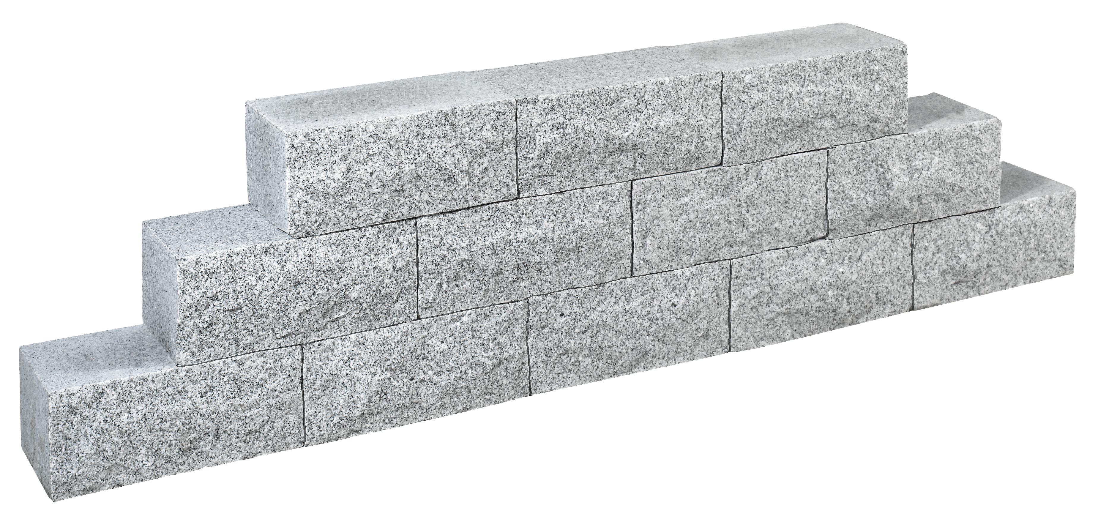 mauerstein granit grau ges gt 35x15x17 5cm steinhandel24. Black Bedroom Furniture Sets. Home Design Ideas