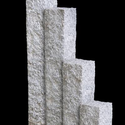 Palisade Granit hellgrau, 250 x 15 x 15 cm
